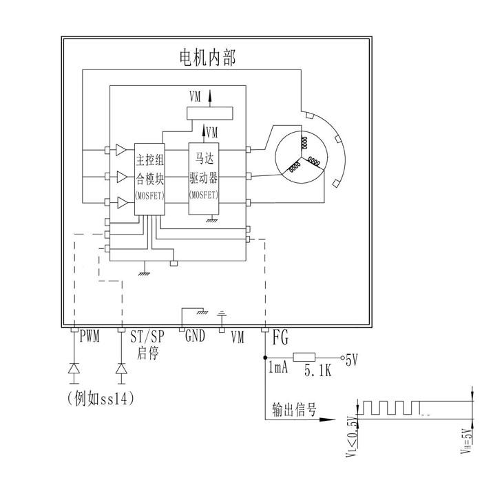 调速微型水泵-电机接线及原理说明